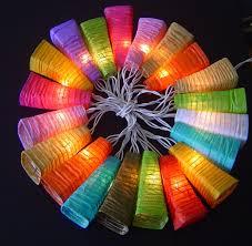 White Paper Lantern String Lights by Paper Lantern String Lights Light String Cotton Balls Lighting