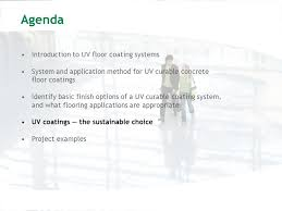 sustainable and instant cure uv coatings for concrete floors ppt