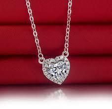 long heart pendant necklace images 2 carat heart shape promise love sona diamond heart pendant jpg