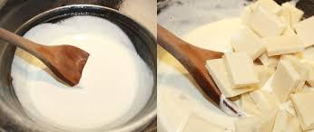 How To Make White Chocolate Brownies With White Chocolate And Raspberry Ganache