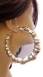 school earrings 3 5 inch hoop earrings bamboo earrings school gold tone