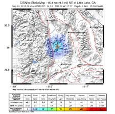 Utc Mall Map Magnitude 3 7 Earthquake Strikes Near Little Lake Ca Sfgate