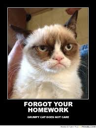 Grumpy Cat Meme Love - forgot your homework grumpy cat meme generator posterizer i