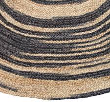 Black Round Rug Hk Living Round Ruge Jute Black Medium Living And Co