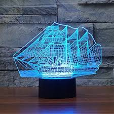 3d Lamps Amazon Sailboat 3d Night Light Touch Table Desk Optical Illusion Lamps