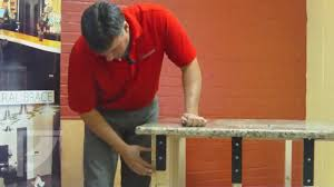 Support For Granite Bar Top How To Install Freedom Countertop Brackets For An Invisible