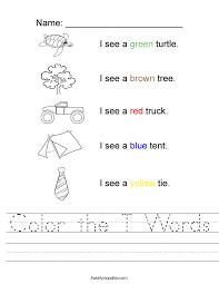 color the t words worksheet twisty noodle
