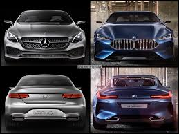 concept mercedes photo comparison bmw 8 series concept vs mercedes benz s class