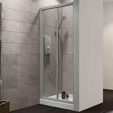 bi fold shower door hinges plumbsure bi fold shower door w 760mm departments diy at b u0026q