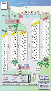 Anastasia State Park Map by Florida Running Clubs Park Map Rv Site Map Rv Resort Navarre
