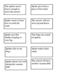 diary of a spider cause and effect activity 2nd grade reading