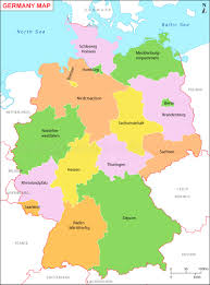 map of germany map of german provinces travel maps and major tourist