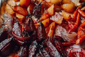 Glazed Root Vegetables Recipe - roasted root vegetables with a miso glaze the woks of life