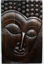 Wood Panel Wall Decor by Buddha Serene Wall Decor Carved Wood Panel Agate Grey Mocha Walnut
