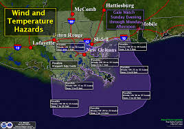 Louisiana Weather Map by Sunday Monday Freeze Watch For Southeast Louisiana Including New