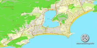 city map of brazil de janeiro brazil printable vector map exact city