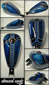 beautiful airbrush work on a motorcyle tank v twins harley