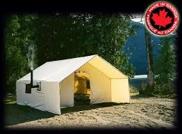 wall tent deluxe wall tents free shipping in canada outside pinterest