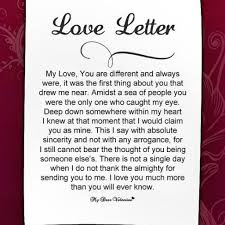 love letter for your gf format