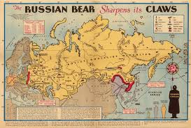 Russia Map Russian Bear Sharpens Its Claws Map From New York Sunday News