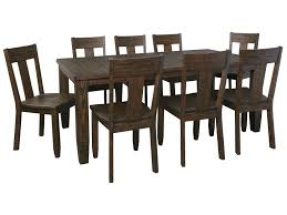 ashley dining room furniture set signature design by ashley trudell 9 piece rectangular dining