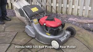 honda hrd 535 petrol lawnmower test review youtube
