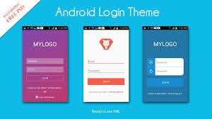 android log login ui xml