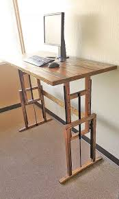 Homemade Wood Computer Desk by 38 Best Diy Standing Desk Images On Pinterest Standing Desks