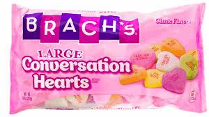 s candy hearts brach s large conversation hearts 16oz