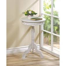 Antique Accent Table Antique White Round Accent Table Free Shipping Today Overstock