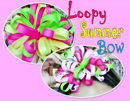 loopy bow loopy summer hair bow tutorial