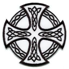 celtic cross druids wicca pagan applique iron on