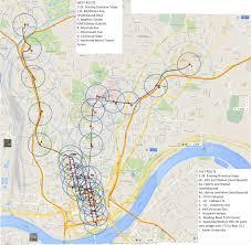 Map Cincinnati Combined Light Rail Map Ideas For Cincinnati Urbanism