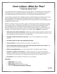 Cover Letter What Is It Nature Cover Letter Length