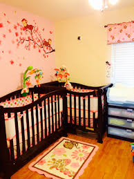 themed l girl nursery in a small room l shape monkey themed