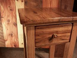 buy a hand crafted wormy chestnut reclaimed wood end table with