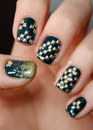 3d nail art with all the studs 3d nail art designs inspired