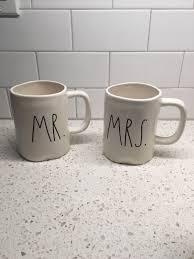 mr u0026 mrs rae dunn mugs mercari buy u0026 sell things you love