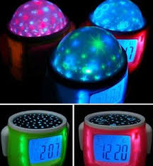 night light alarm clock creative music star projection alarm clock little star glow led