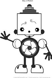 robot boy 3 coloring http www kidscanhavefun robot