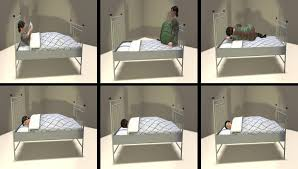 Shape Shifting Furniture 2 Prim Land Impact Mesh Single Beds With Shape Changing Blankets