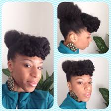 natural hair bun styles with bang natural hair bun puff updo with twistout bangs done with shoulder