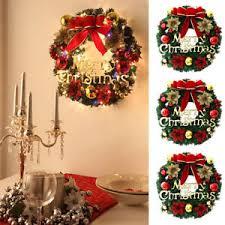 chrismas door wall window garland bowknot flower wreath balls xmas