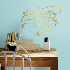 roommates 5 in x 11 5 in do something awesome quote 6 piece peel