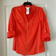 michael kors blouses michael michael kors sold michael kors mandarin orange