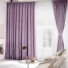 lilac bedroom curtains romantic lilac polyester blackout curtain for living room