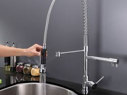 kraus commercial pre rinse chrome kitchen faucet kitchen beautiful arc silver chrome pre rinse faucet with
