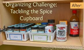 Spice Cabinet Organization Organizing Challenge Tackling The Spice Cupboard Living Well Mom