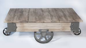 Wooden Coffee Table With Wheels by Rezfurniture Vintage Center Coffee Table With Wheels U0026 Reviews