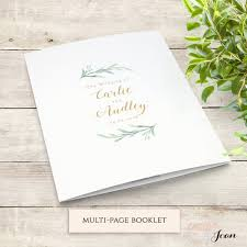 diy wedding program templates greenery booklet wedding program template order of service